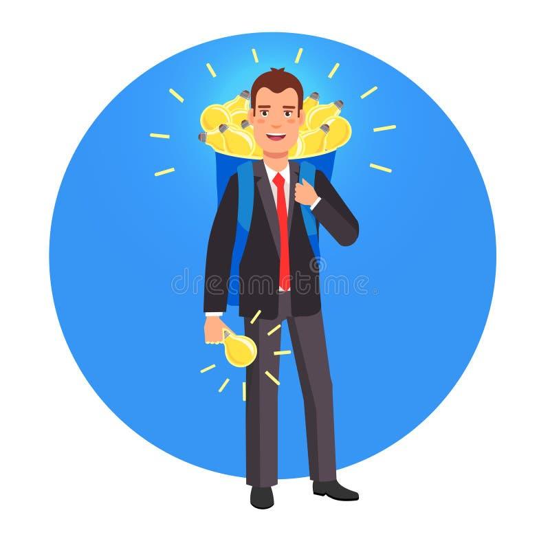Mądrze przedsiębiorca i innowator royalty ilustracja