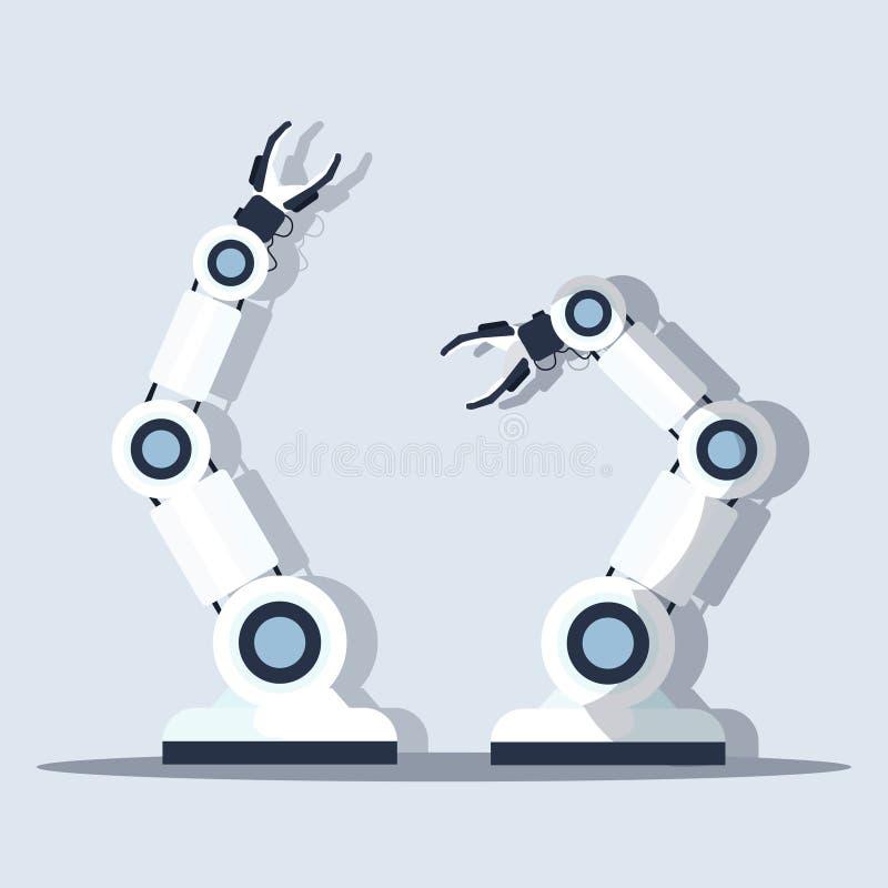 Mądrze przydatnej szefa kuchni robota pojęcia automatyzacji innowacji kuchennej pomocniczej nowożytnej mechanicznej technologii s ilustracji