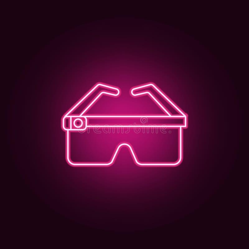 Mądrze szkło ikona Elementy sztuczny w neonowych stylowych ikonach Prosta ikona dla stron internetowych, sieć projekt, mobilny ap ilustracja wektor