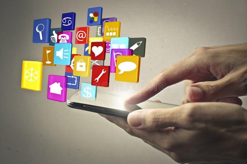 Mądrze telefonów apps obraz royalty free