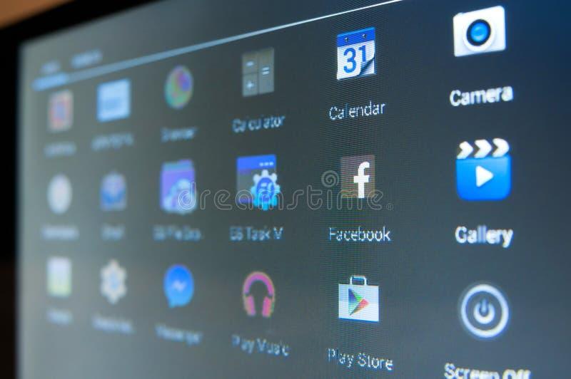 Mądrze telefonów apps zdjęcia royalty free