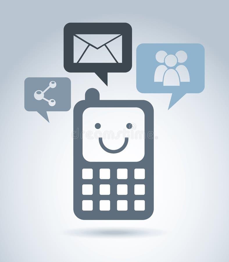 Mądrze telefon royalty ilustracja