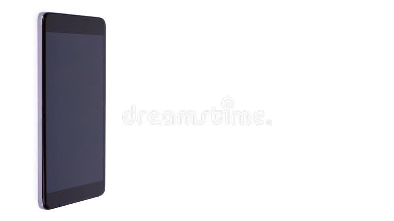 Mądrze telefon z pustym ekranem Odizolowywającym na biały tle odbitkowa przestrzeń, szablon zdjęcia stock