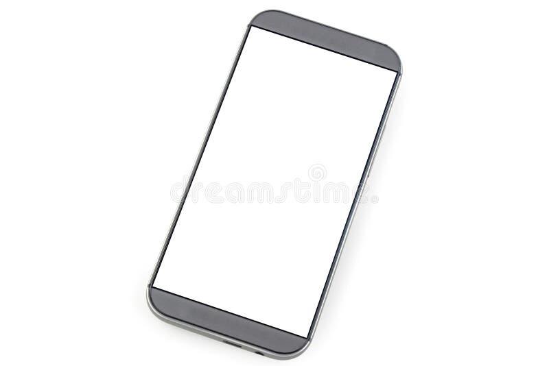 Mądrze telefon z pustym ekranem odizolowywającym na bielu obraz stock