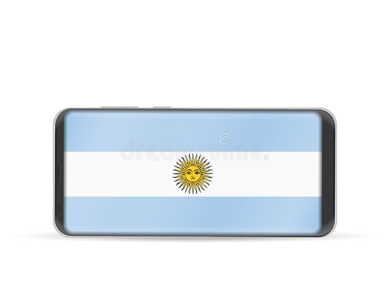 Mądrze telefonu Argentyna flaga royalty ilustracja