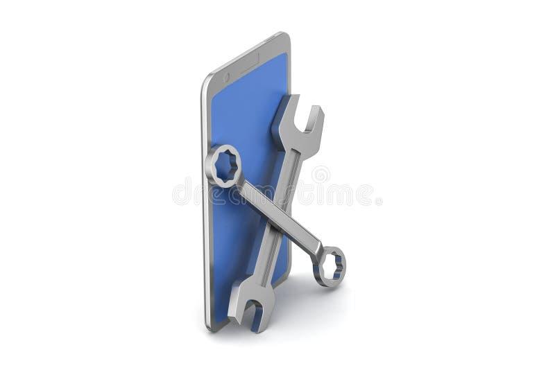 Download Mądrze Usługa Telefonicznej Pojęcie Ilustracji - Ilustracja złożonej z odosobniony, technologia: 53777695