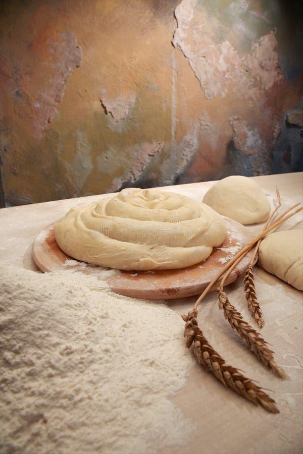 mąka ciasta fotografia stock