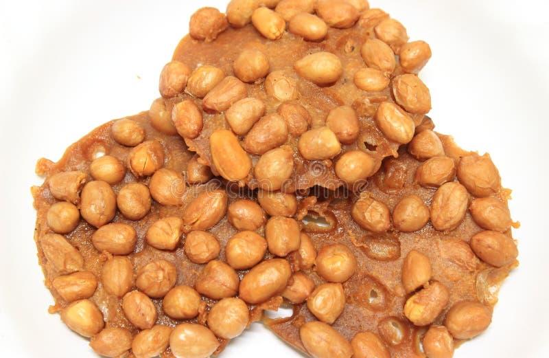 Mąka smażąca z arachidami obraz royalty free