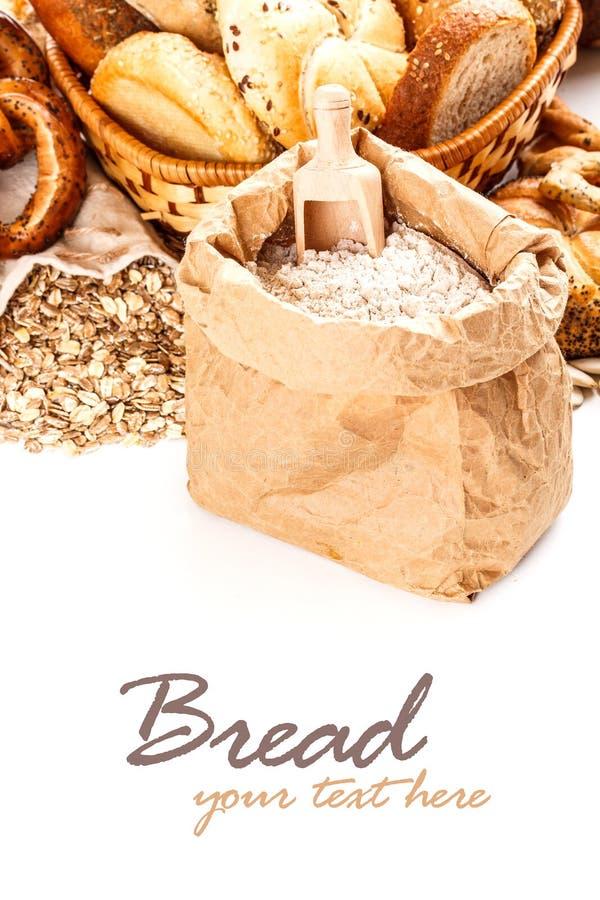 Mąki i owsa płatki fotografia royalty free