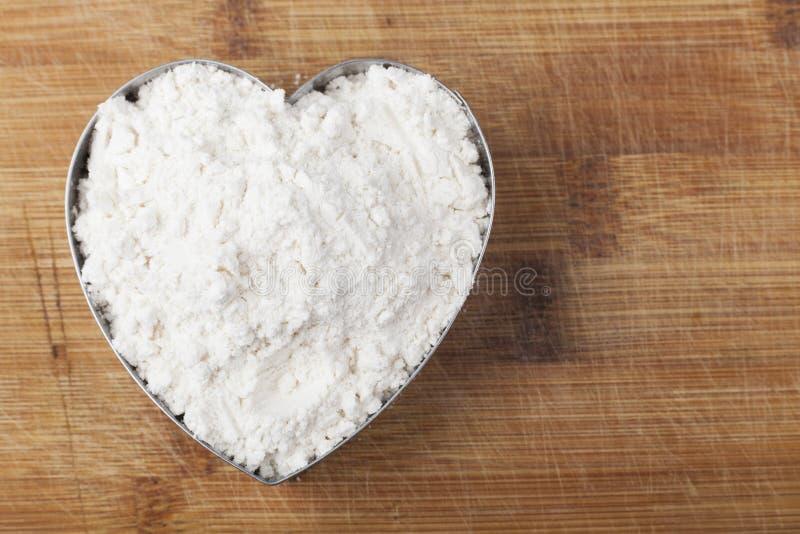 Mąki serce zdjęcia stock