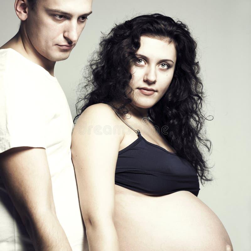 męża szczęśliwy kobieta w ciąży fotografia royalty free