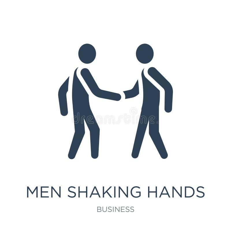 mężczyźni trząść ręki ikonę w modnym projekta stylu mężczyźni trząść ręki ikonę odizolowywającą na białym tle mężczyźni trząść rę ilustracji