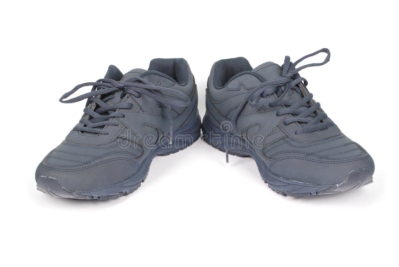 Mężczyzn błękitni sneakers zdjęcia stock