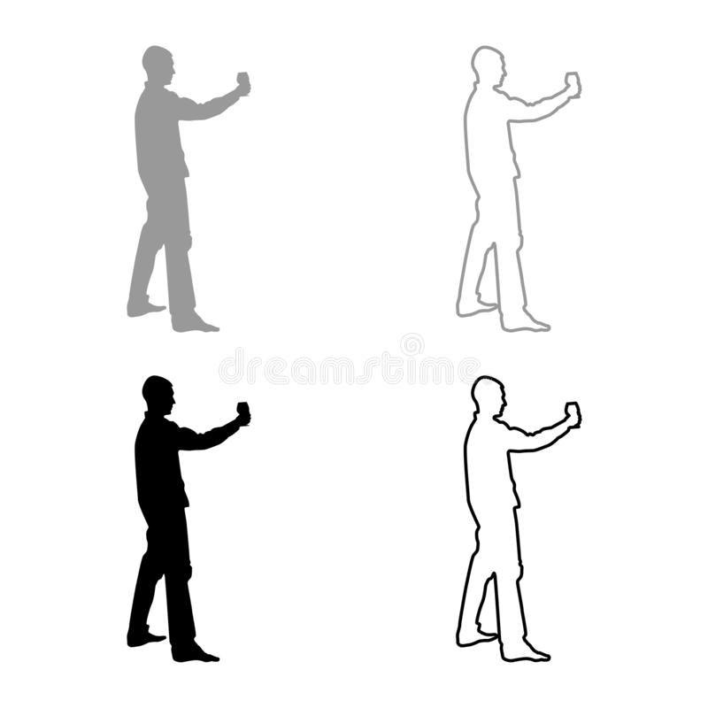Mężczyzn chwyty w długim ręki szkle wino wokoło robić grzance Wakacyjnemu pojęcie ikony setowi siwieją czarnego kolor ilustracji  ilustracja wektor