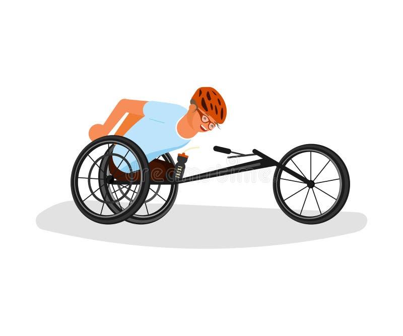 Mężczyzn sportowowie z incapability royalty ilustracja