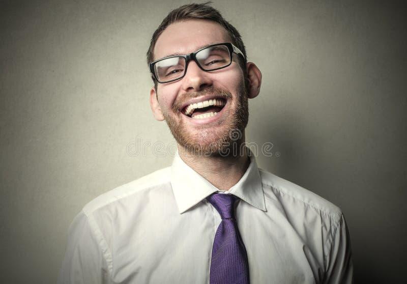 Mężczyzna śmiech obrazy stock