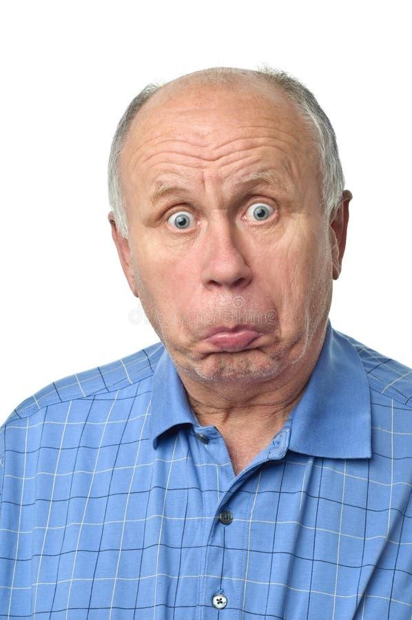 mężczyzna śmieszny senior zdjęcie stock