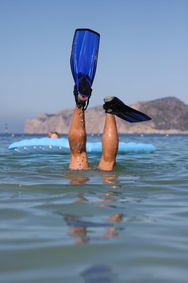 Mężczyzna śmieszny Snorkel Fotografia Stock