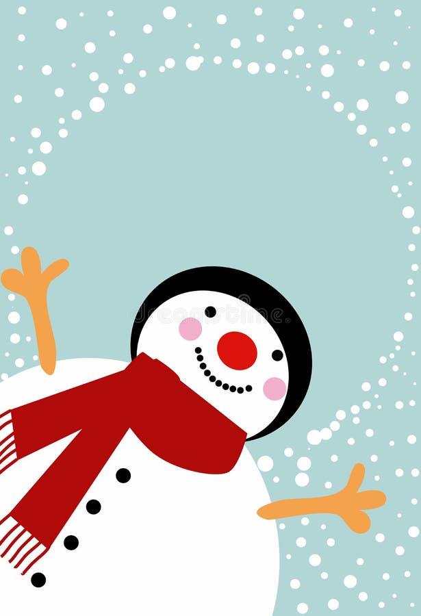 mężczyzna śnieg ilustracja wektor