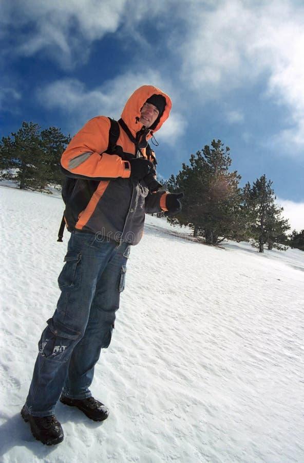 mężczyzna śnieg zdjęcie royalty free