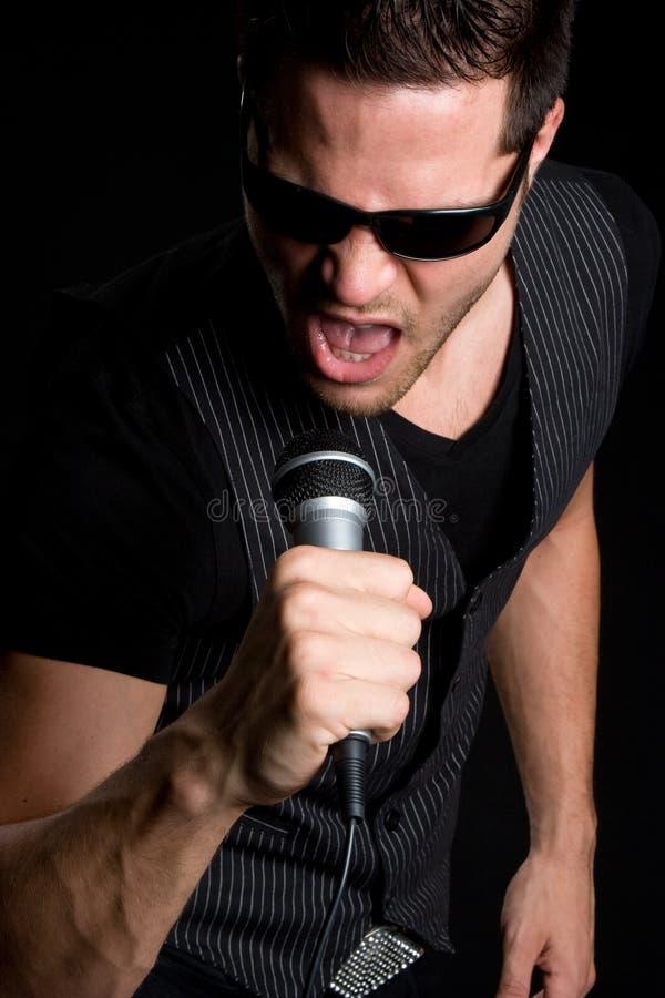 mężczyzna śpiew obraz royalty free