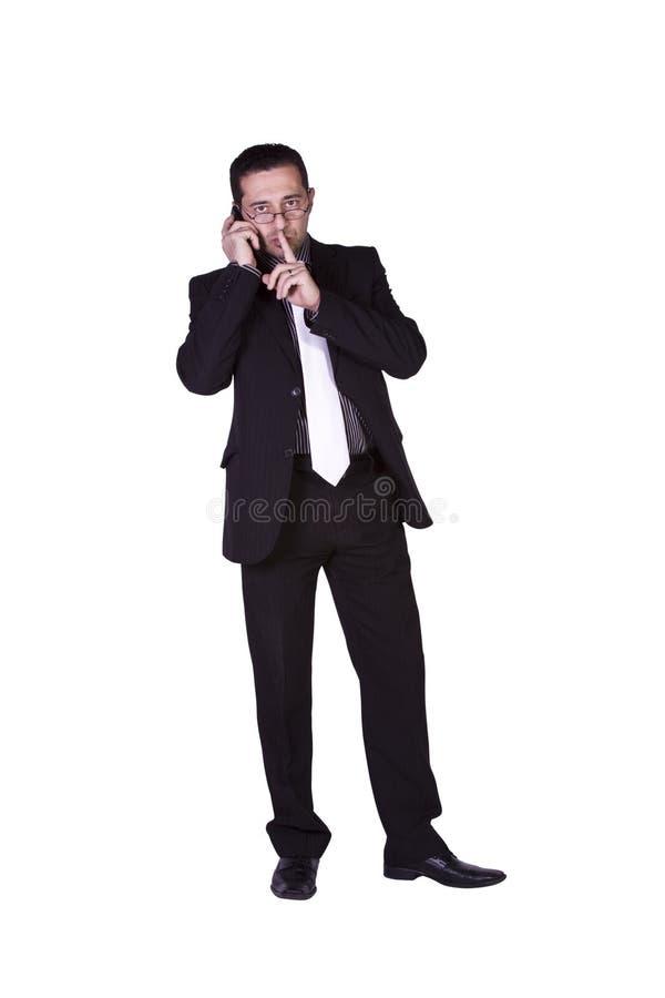 mężczyzna śródziemnomorski telefonu target423_0_ zdjęcia royalty free