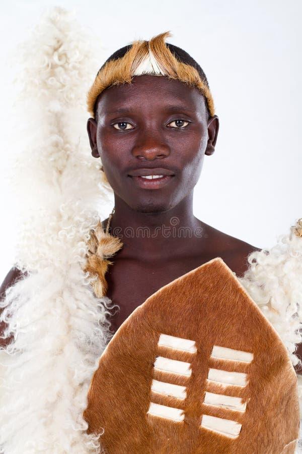 mężczyzna afrykański zulu zdjęcie stock