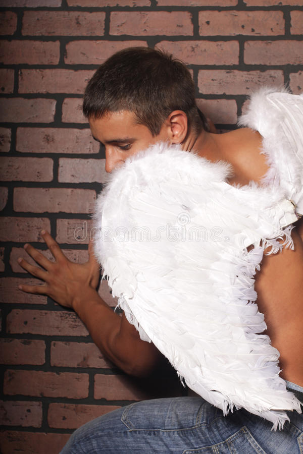 Mężczyzna anioł obrazy stock