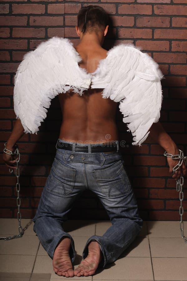 Mężczyzna anioł zdjęcie stock