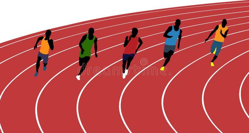 Mężczyzna atlet biegacze ilustracji