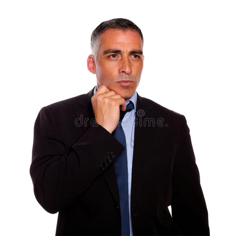mężczyzna atrakcyjny charyzmatyczny główkowanie obraz stock