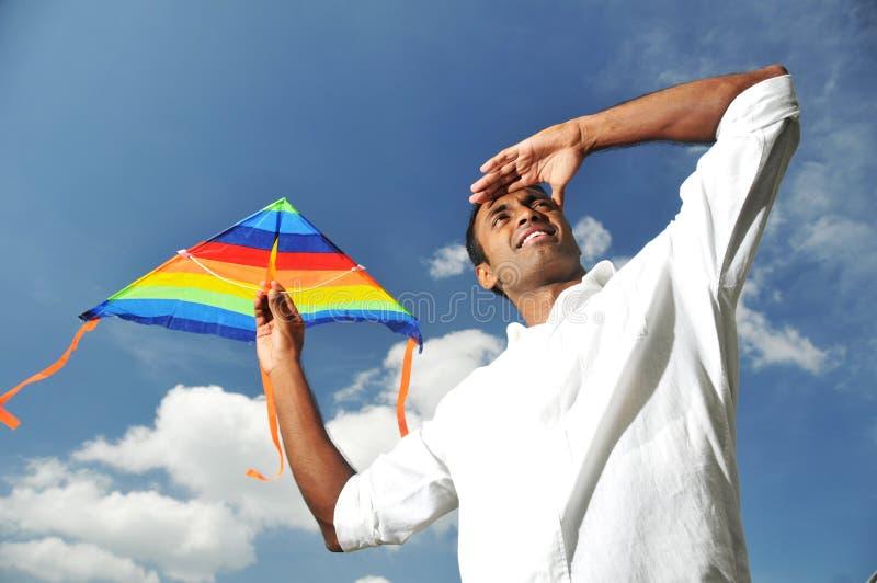 mężczyzna azjatykci indyjski wzrok zdjęcie stock