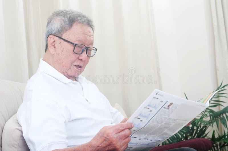 mężczyzna azjatykci senior obraz royalty free