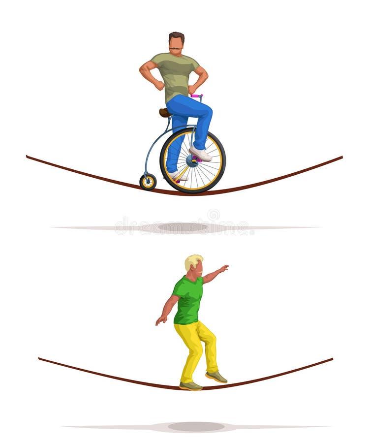 Mężczyzna balancer set royalty ilustracja