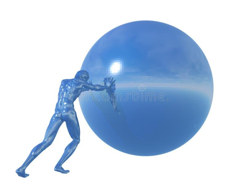 Download Mężczyzna balowe rolki ilustracji. Ilustracja złożonej z wyzwanie - 13326075