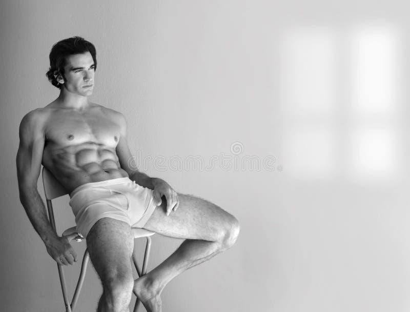 mężczyzna bez koszuli seksowny obraz royalty free