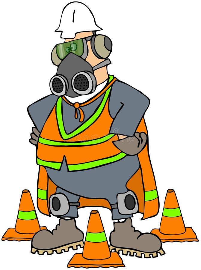 mężczyzna bezpieczeństwo ilustracji