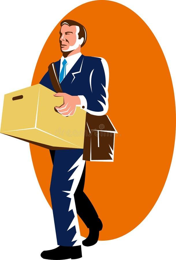 mężczyzna bezrobotni ilustracji