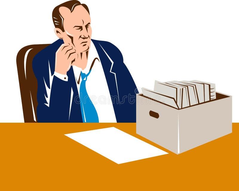 mężczyzna bezrobotni royalty ilustracja
