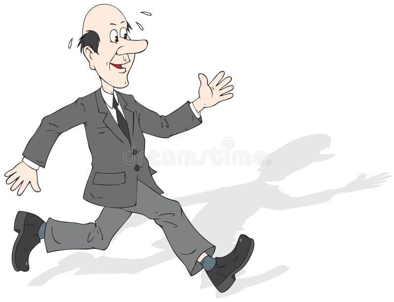 mężczyzna bieg royalty ilustracja