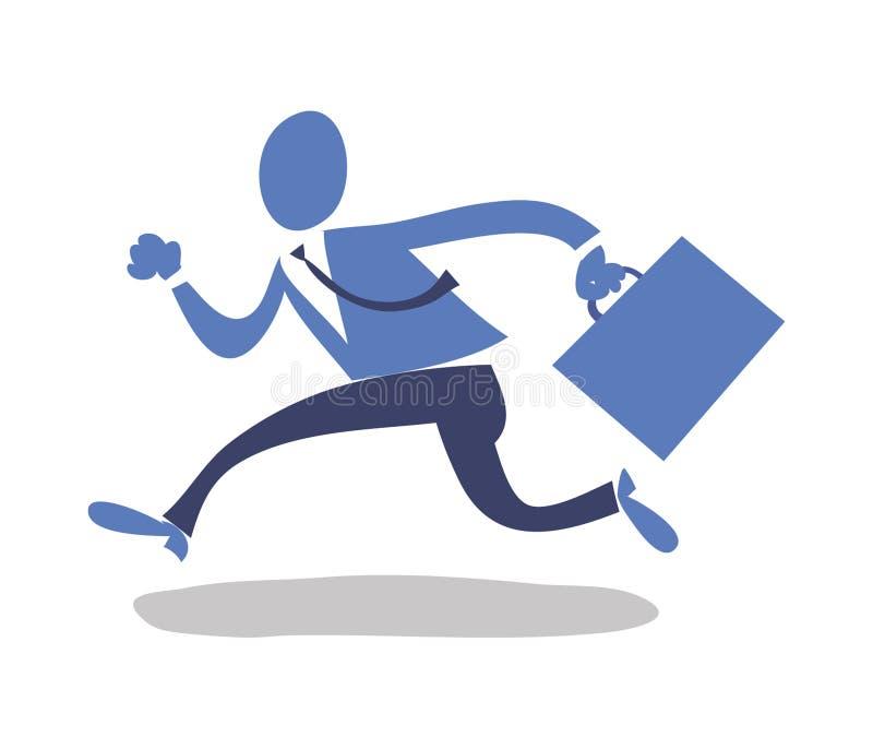 mężczyzna bieg ilustracja wektor