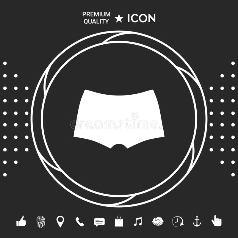 Mężczyzna bielizna sylwetka Menu rzecz w sieć projekcie Graficzni elementy dla twój designt ilustracji
