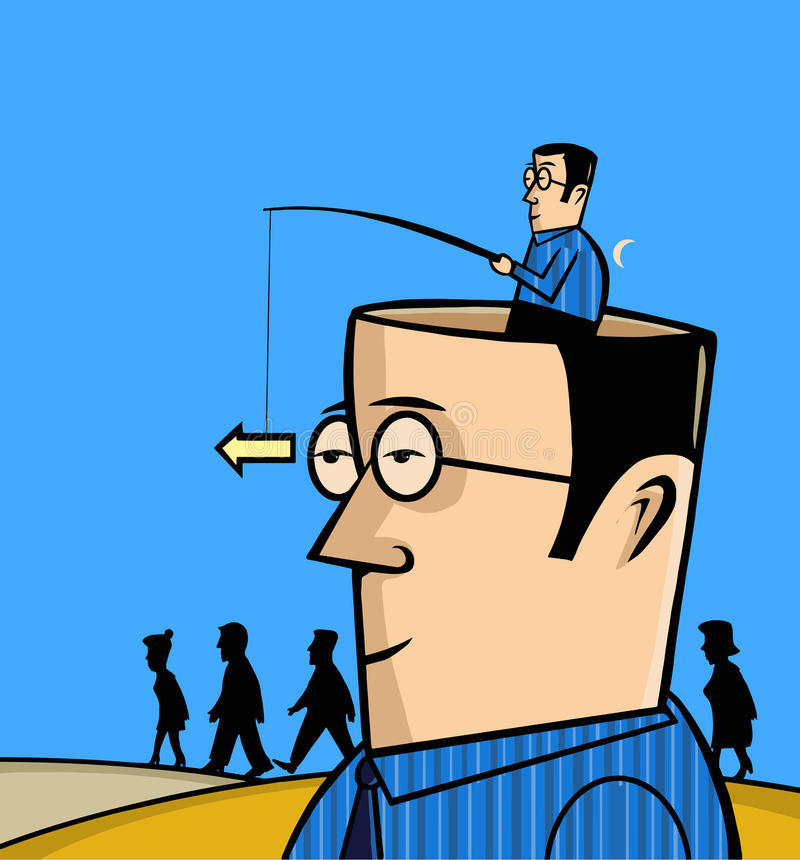 Mężczyzna bierze prawą decyzję royalty ilustracja