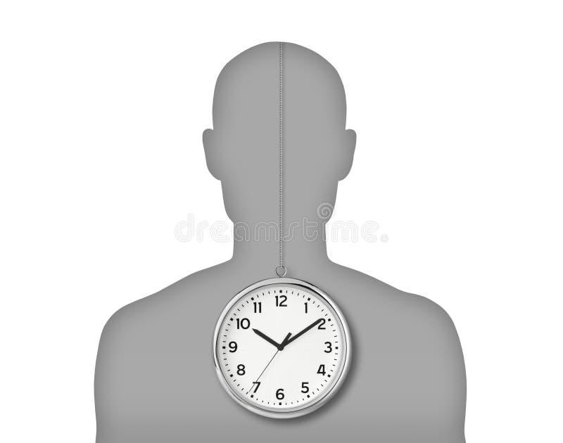Mężczyzna biologiczny zegar ilustracja wektor