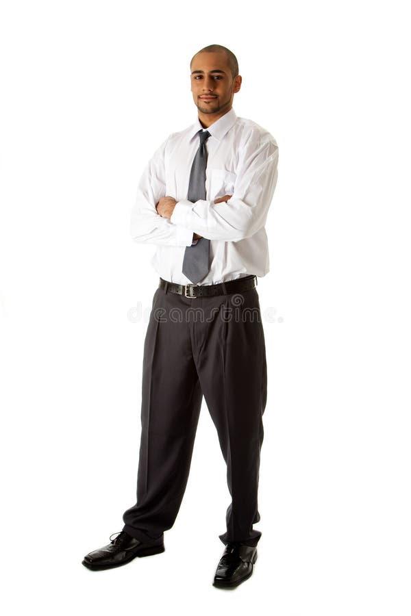 mężczyzna biznesowa przystojna pozycja obraz stock