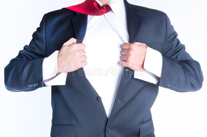 Mężczyzna biznesowy Bohater obrazy stock