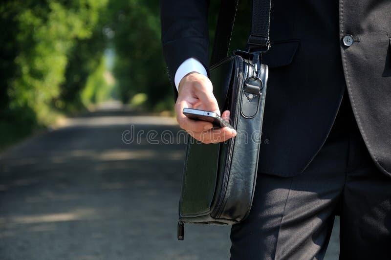 Mężczyzna biznesowy odprowadzenie zdjęcie stock