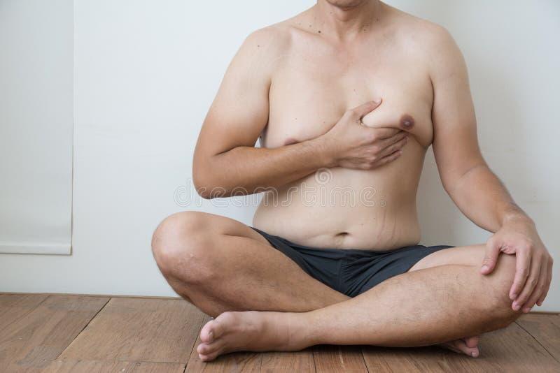 Mężczyzna boob z brzucha sadłem zdjęcie royalty free