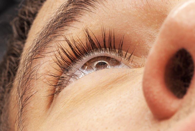 Mężczyzna brown oko obrazy stock