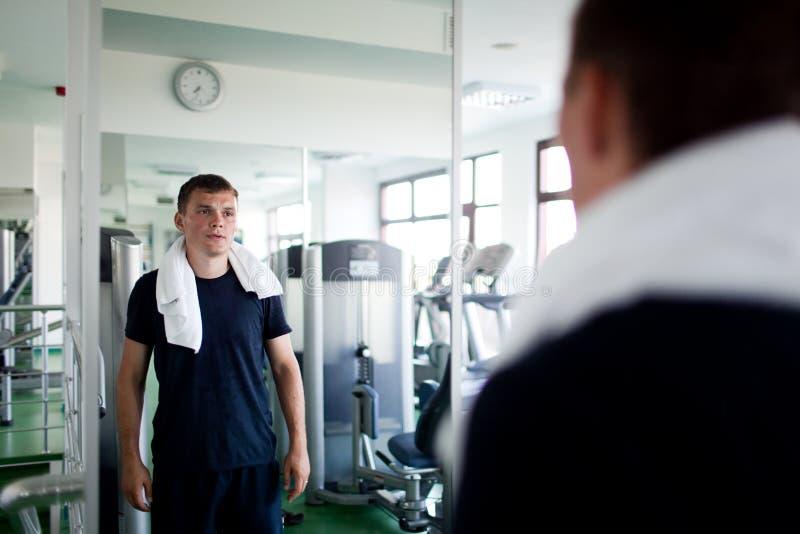 mężczyzna centrum zdrowy sport obrazy royalty free